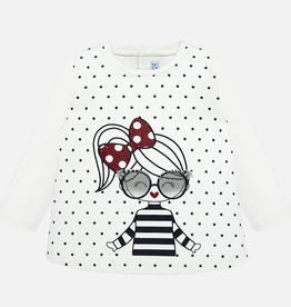 Mayoral Long Sleeve Graphic T-Shirt for Girls