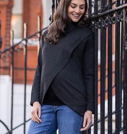 Seraphine Alice, Roll Neck Crossover Maternity & Nursing Sweatshirt