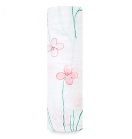 "Aden + Anais forest fantasy - flowers  47"" Single classic swaddle"
