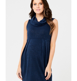 Ripe Maternity Navy, Melange Tunic Maternity Dress