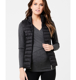 Ripe Maternity Puffer Maternity Vest With Knit Sides