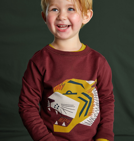 Tea Collection Embroidered Tiger Pullover for Boy