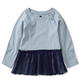Tea Collection Tulle Trimmed Top for Baby Girl