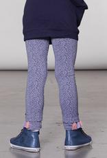 Deux Par Deux Lavender Blue Dotted Legging for Girl