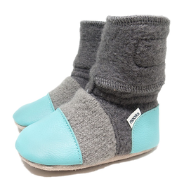 Nooks Design Lagoon Blue Felted Wool Booties