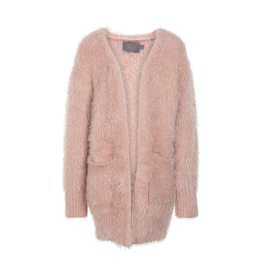 Creamie Rose Smoke Pointelle Knit Cardigan for Girl