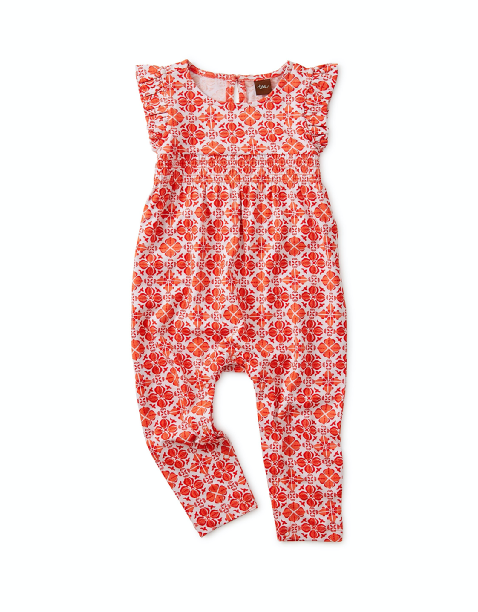 Tea Collection Fish Tile Ruffled Romper for Baby Girl