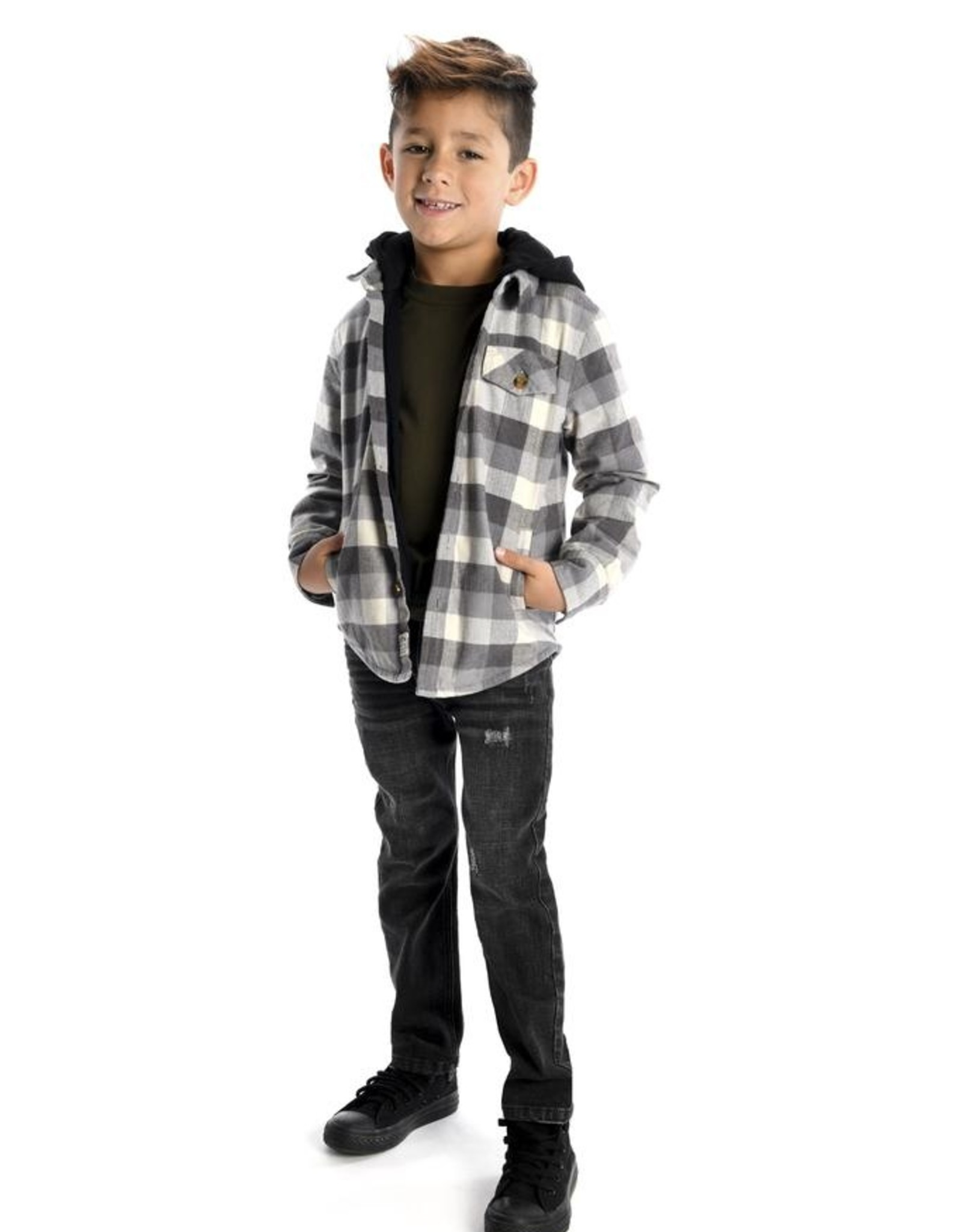Appaman Glen Buffalo Check Hooded Shirt for Boy