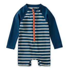 Tea Collection Striped Zip Rash Guard for Baby Boy