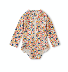 Tea Collection Baby Rash Guard One-Piece in Cyprus Floral for Girl