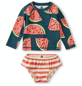 Tea Collection Rash Guard Set in Watermelons for Girl