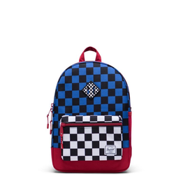 Herschel Supply Co. Heritage Backpack | Youth, Amaro Blue/Red/Black White Checker, 16L
