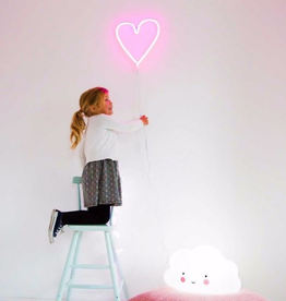A Little Lovely Co. Pink Heart Neon Light.