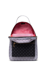 Herschel Supply Co. Nova Backpack | Small, Grey Crosshatch Polka Dot / Black Polkadot, 14L