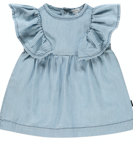 Noppies Kids Carson City Dress for Baby Girl in Striped Washed Light