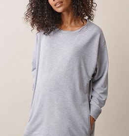Boob Design BFF Maternity and Nursing Sweatshirt in Grey Melange