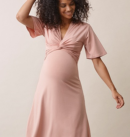 Boob Design La La Maternity and Nursing Dress in Misty Rose