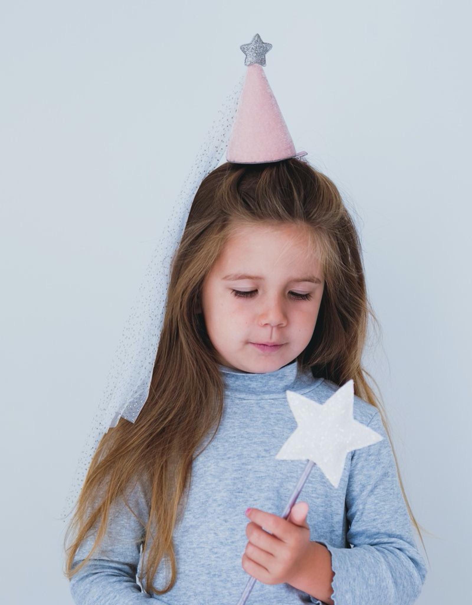 Mimi & Lula Princess Hat, Pink / Silver Sparkle