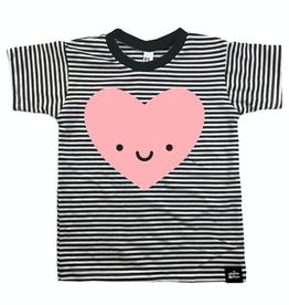 Whistle & Flute Kawaii Heart Striped T-Shirt