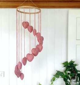 OB Designs Pink Crochet Heart Mobile