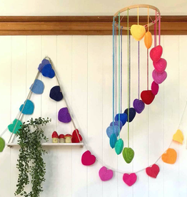 OB Designs Rainbow Crochet Heart Mobile