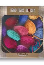 OB Designs Rainbow Crochet Heart Mobile