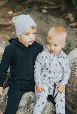 Posh & Cozy Youth Bolt Hoodie For Boy in Heather Grey