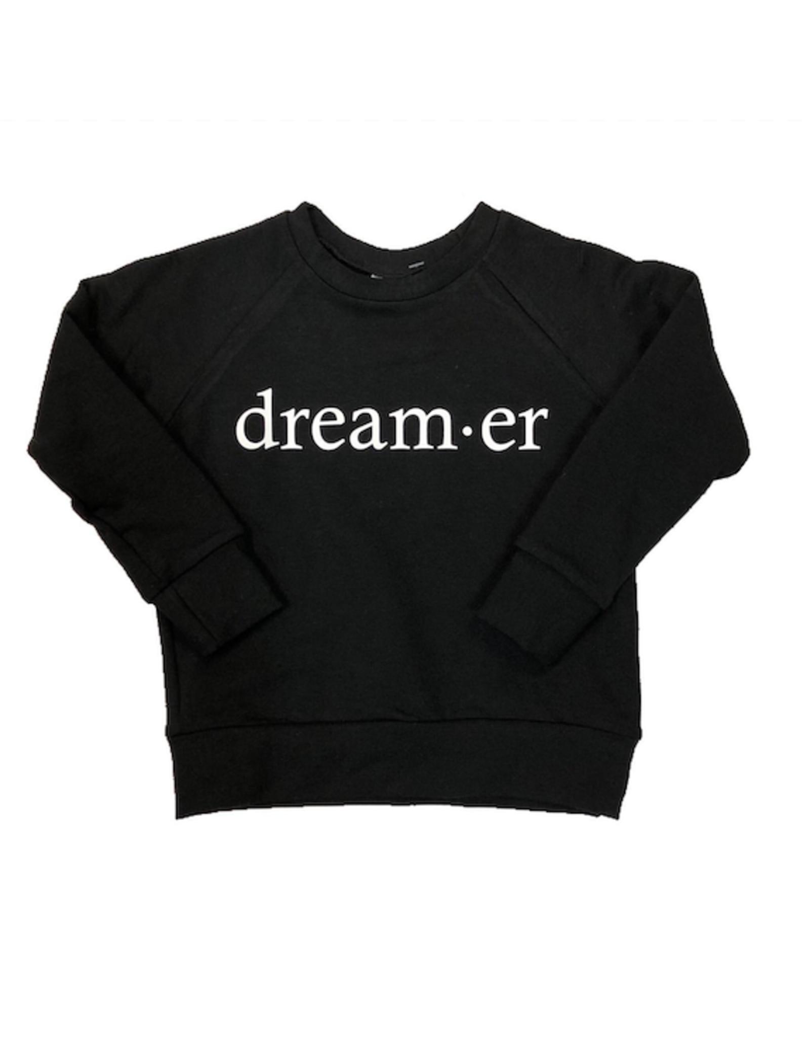 Posh & Cozy Dream-er Black Crewneck
