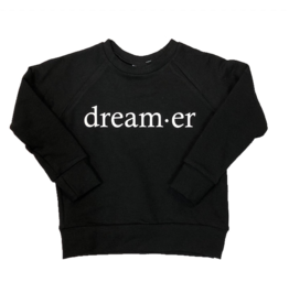 Posh & Cozy Dream-er Black Crewneck