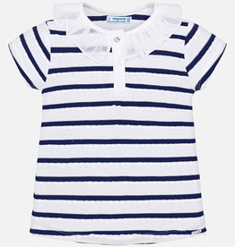 Mayoral Short Sleeved Striped Polo Shirt for Girl