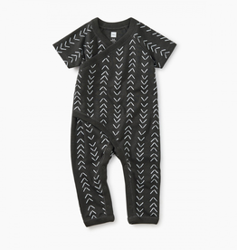 Tea Collection Geo Print Wrap Romper for Baby