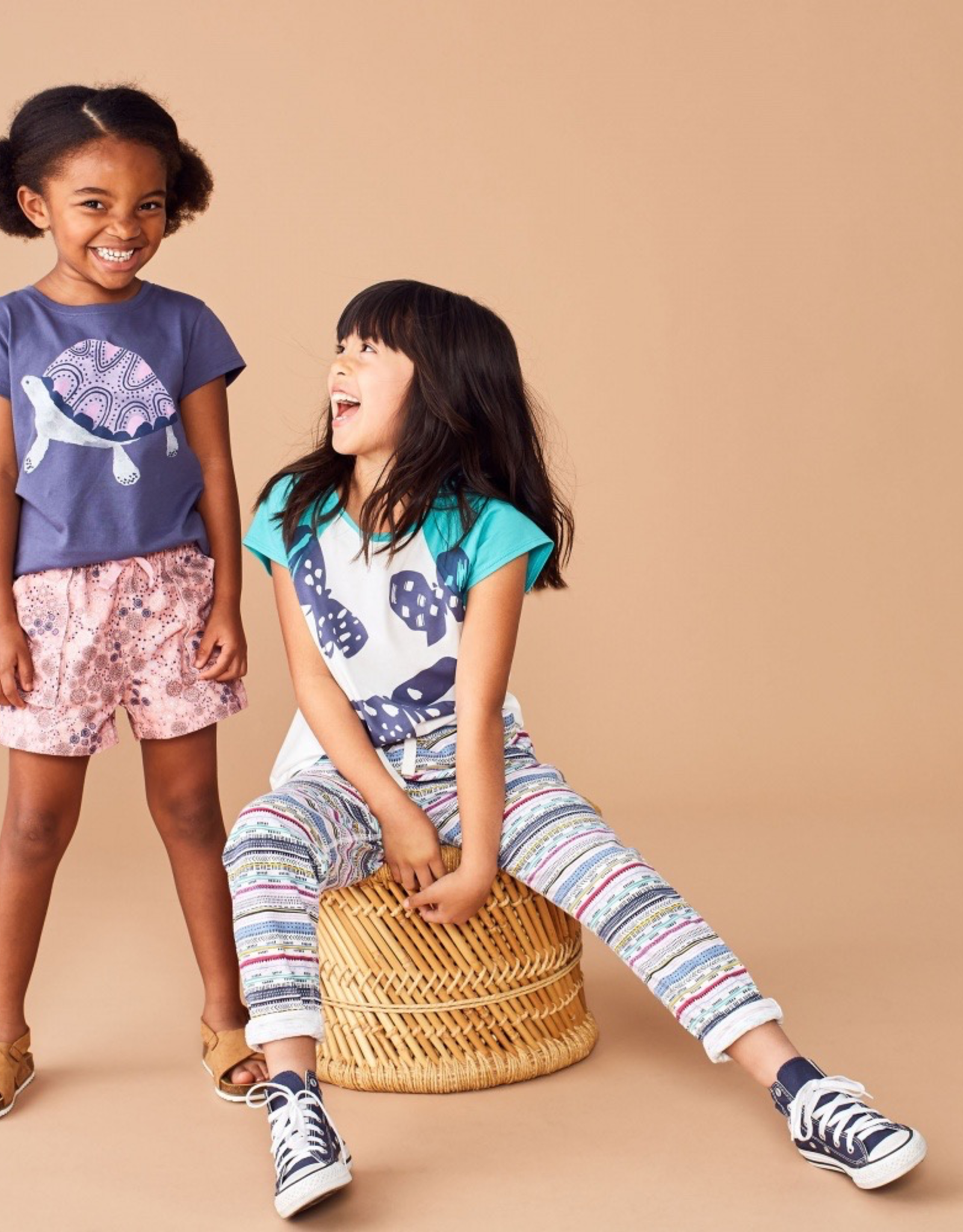 Tea Collection Printed Knit Joggers for Girl