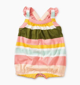 Tea Collection Patterned Cross-Back Romper for Baby Girl