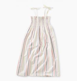 Tea Collection Tie Shoulder Midi-Length Dress for Girl