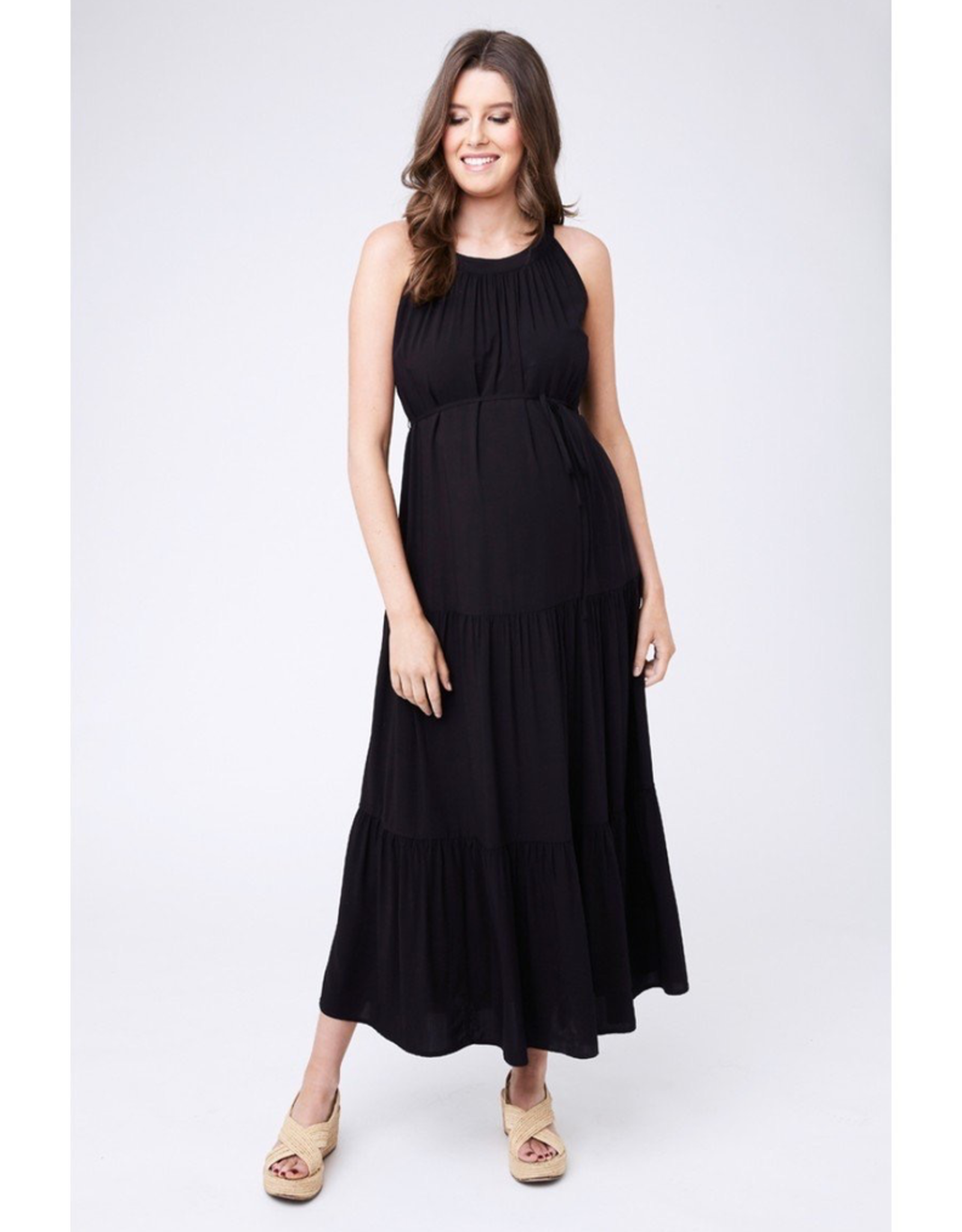 Ripe Maternity Panelled Peasant Dress