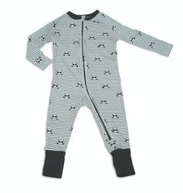 Silkberry Baby Bamboo Two-way Zipper Romper/Sleeper Peek a Boo Panda Print