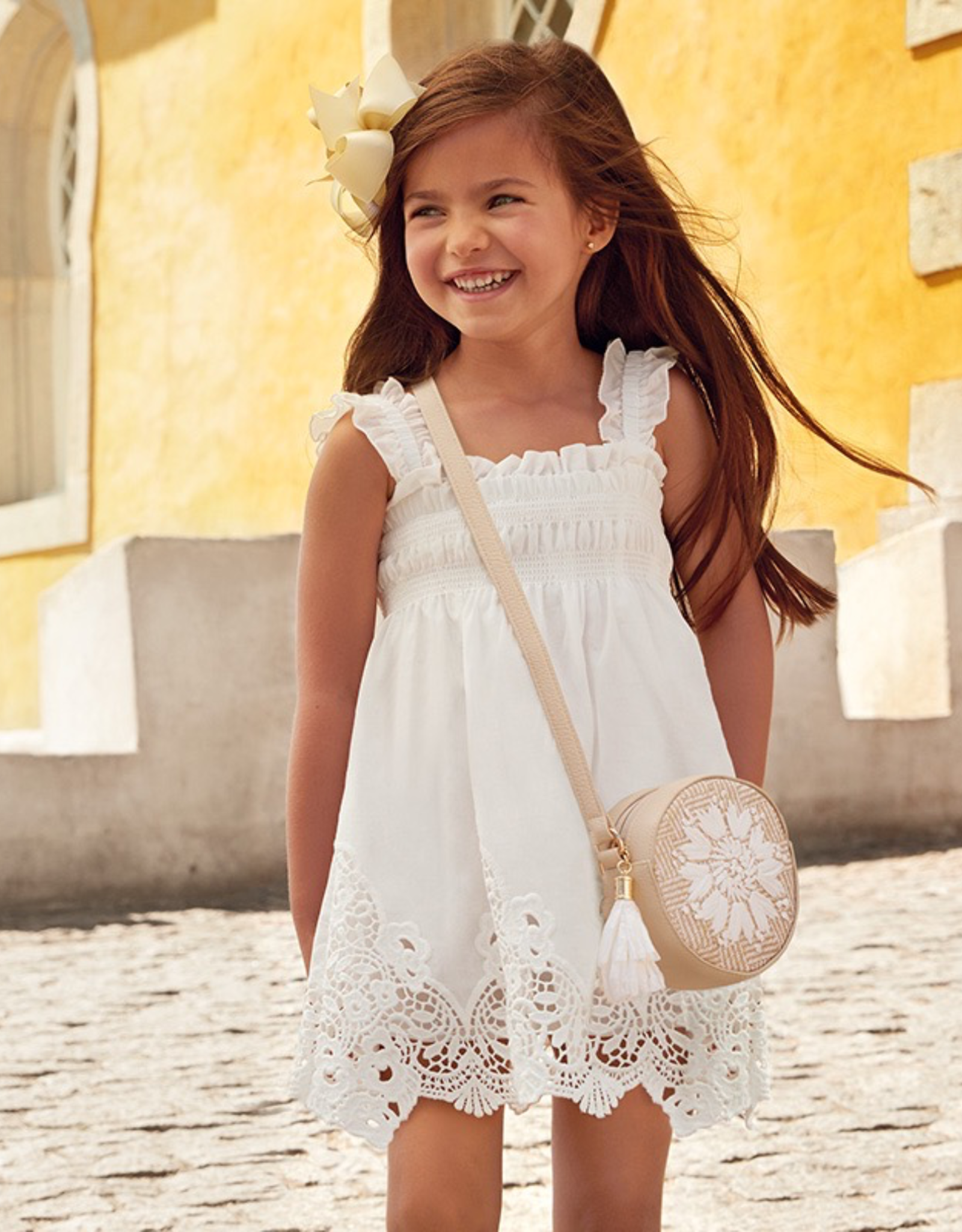 Mayoral Embroidered Dress for Girl