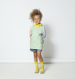 Go Soaky Elephant Man Raincoat in Pastel Green Multi
