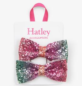 Hatley Multi Colour Prismatic Bows Glitter Hair Clips