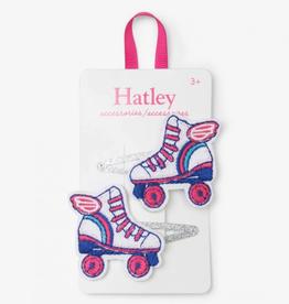Hatley White Roller Skates Snap Clips