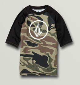 Boys Lido Short Sleeve UPF 50 Rashguard in Camo