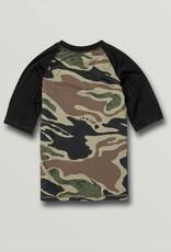 Big Boys Lido Short Sleeve UPF 50 Rashguard in Camo