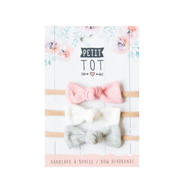 Petit Tot Jersey Bows on Headbands