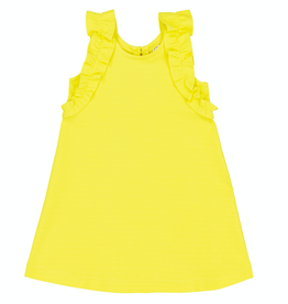 Deux Par Deux Milano Dress for Girl in Limelight
