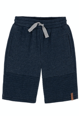Deux Par Deux Quilted French Terry Short for Boy in Navy