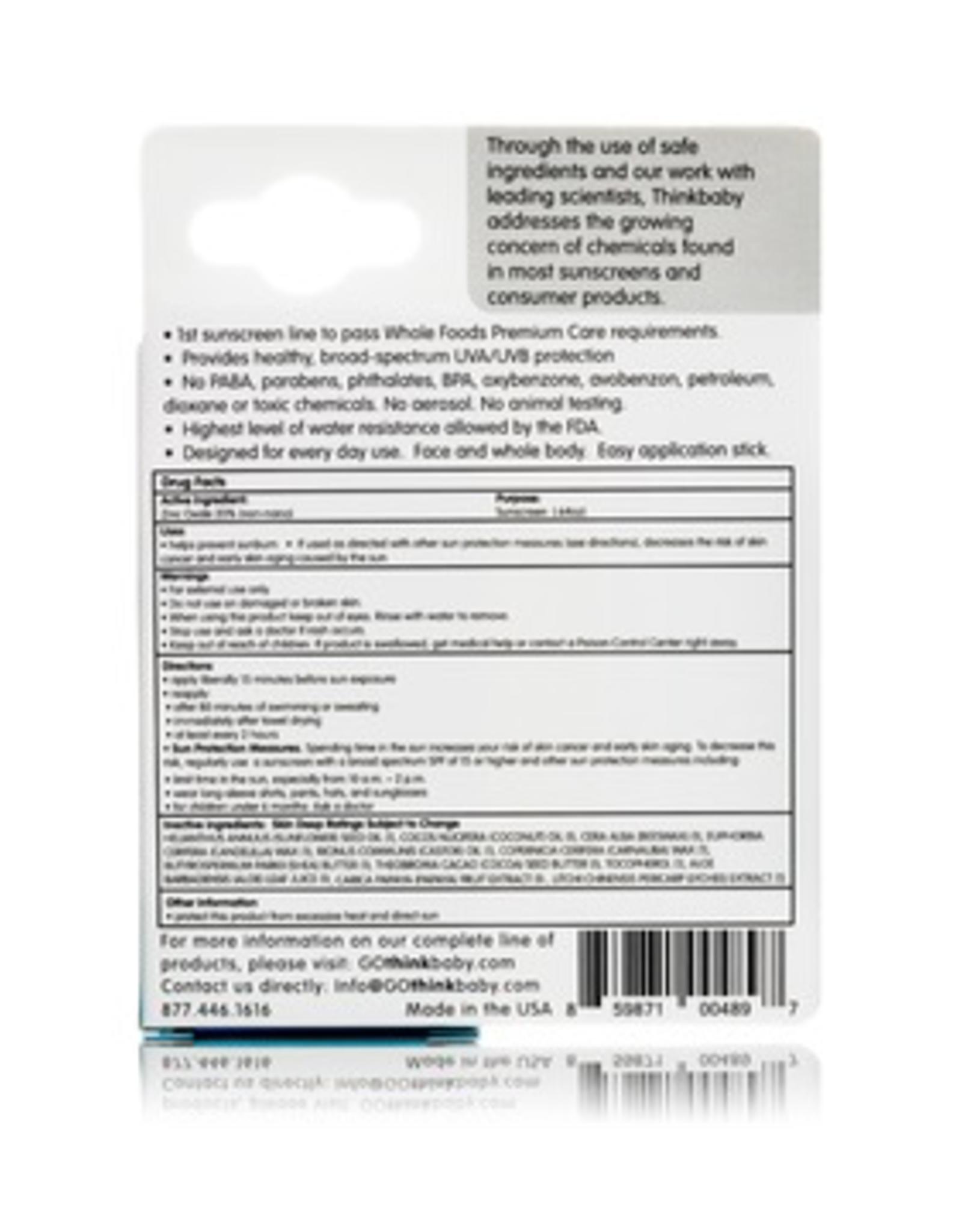 Thinksport Kids Sunscreen Stick SPF 30+ (.64oz/18.4g)