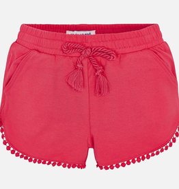 Mayoral Chenille Knit Shorts for Girl in Azalea Pink