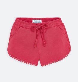 Mayoral Chenille Knit Shorts for Girl in Watermelon