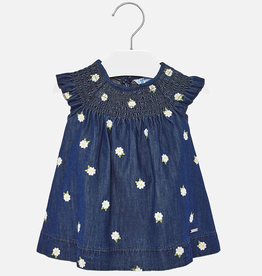 Mayoral Daisy Denim Dress for Baby Girl
