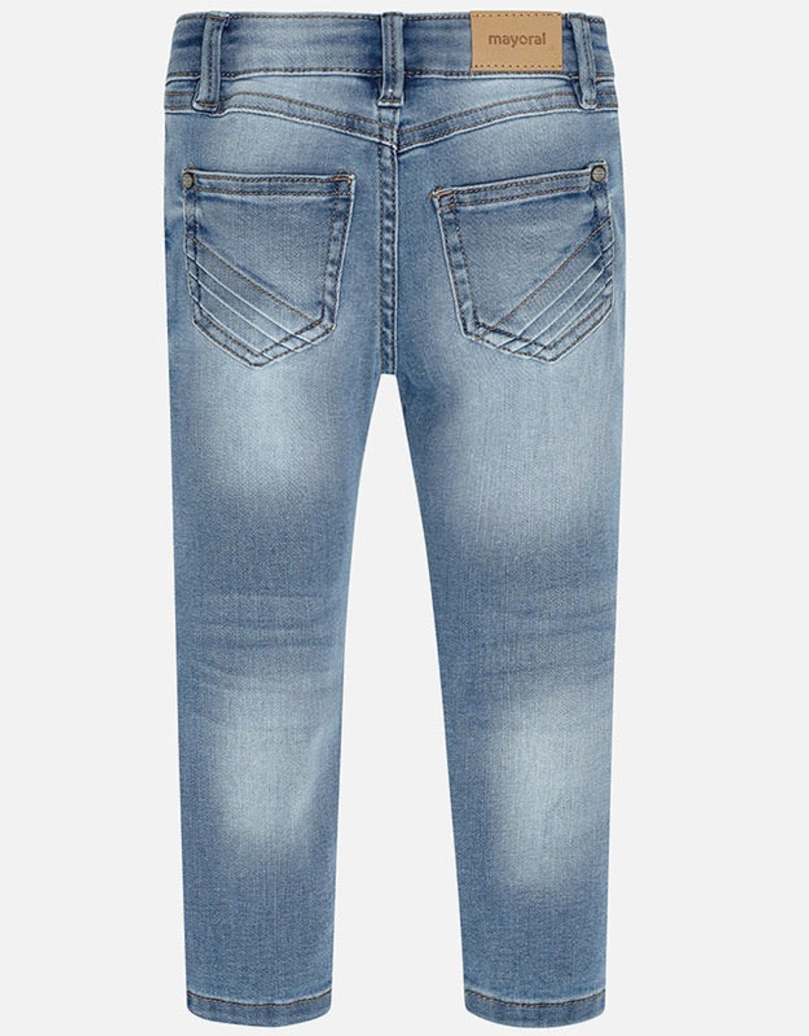 Mayoral Faded Skinny Jeans for Girl
